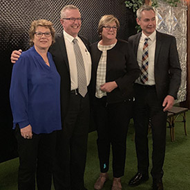 MAV President, Coral Ross with MAV Deputy President (Rural) Cr Ruth Gstrein with Federal Minister for Regional Services, Decentralisation and Local Government, The Hon Mark Coulton MP in Canberra at the ALGA Board meeting.