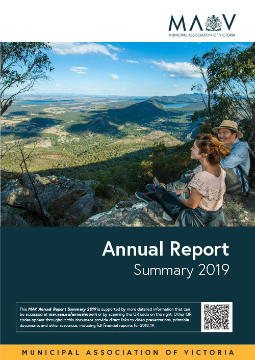 Annual report summary cover