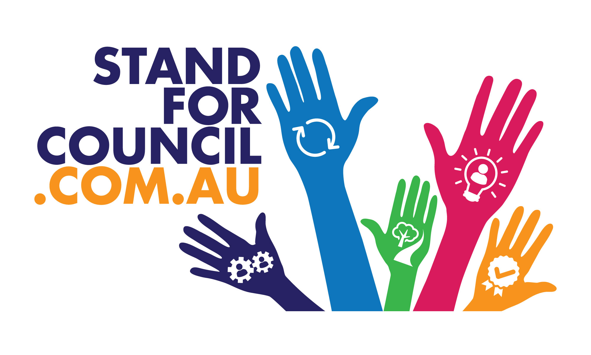 Stand for council landscape logo