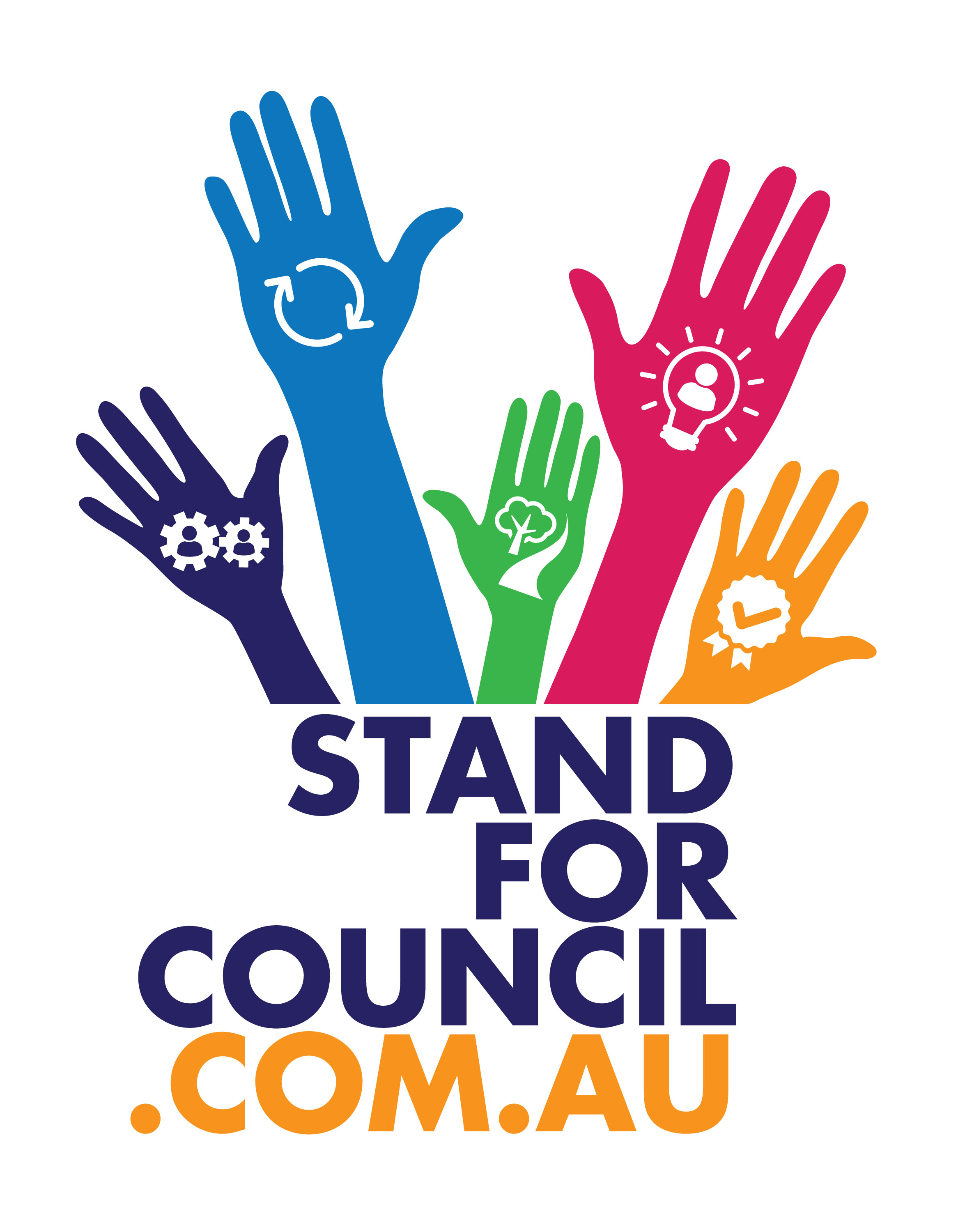 Stand for council portrait logo