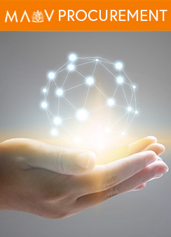 A photo of a pair of hands holding a light generated globe