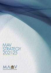The cover of the MAV Strategy 2021-25 publication