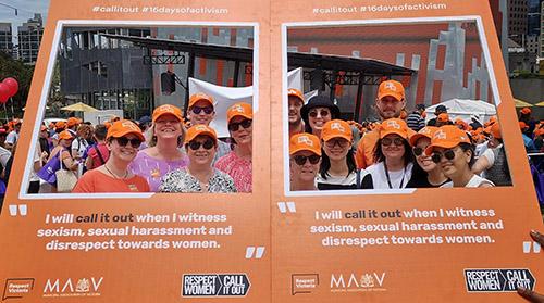 MAV Staff at 16 Days of Activism Against Gender-based Violence march