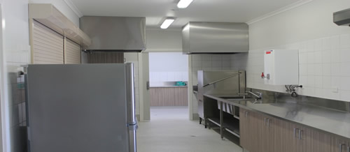 Yallourn North Town Hall kitchen after the upgrade