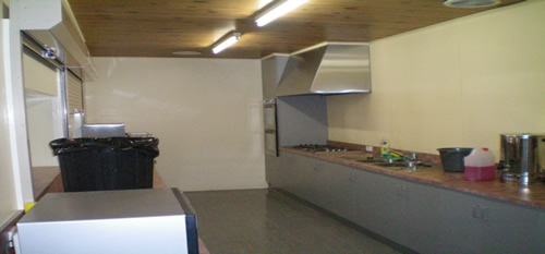Yallourn North Town Hall kitchen before the upgrade