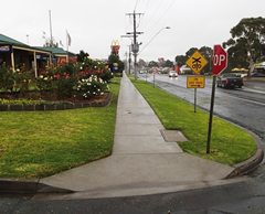 View of Anderson Street after the construction of the footpath