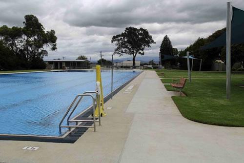Moe outdoor pool after refurbishment