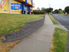 Another view of Anderson Street after the construction of the footpath