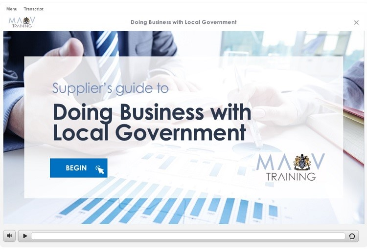 doing business with government eLearning module
